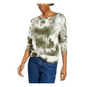 Hooked Up Twist Front Blouse Tie Dye M New